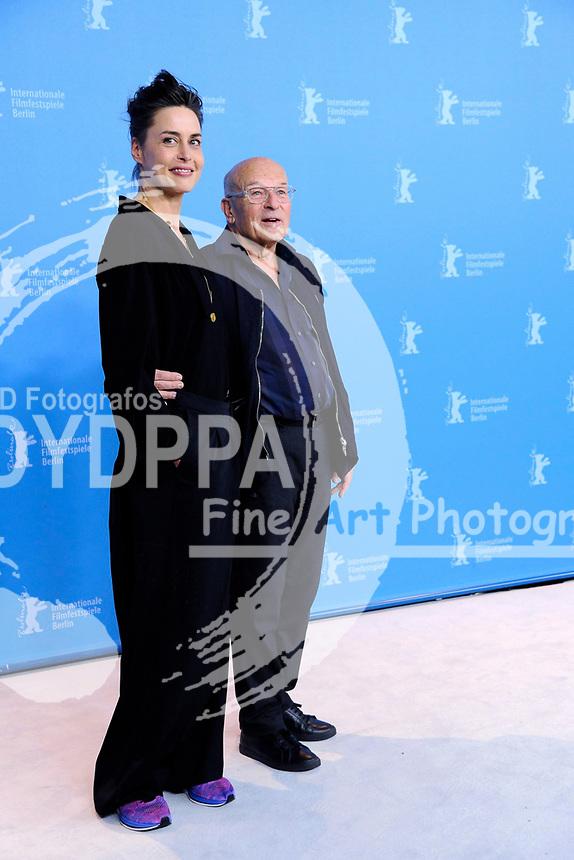 Susanne Wolff und Volker Schlöndorff beim Photocall zu 'Rückkehr nach Montauk / Return To Montauk' auf der Berlinale 2017 / 67. Internationale Filmfestspiele Berlin im Grand Hyatt Hotel. Berlin, 15.02.2017