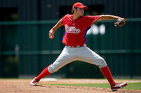 Starting pitcher Julio Rodriguez #73 of the GCL Phillies in action versus the GCL Braves at Disney's Wide World of Sports Complex, July 13, 2009, in Orlando, Florida.  (Photo by Brian Westerholt / Four Seam Images)