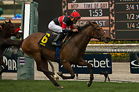 ARCADIA, CA  APRIL 7:   #6 Fatale Bere, ridden by Joel Rosario, wins the Providencia Stakes (Grade lll) on April 7, 2018 at Santa Anita Park Arcadia, CA. (Photo by Casey Phillips/ Eclipse Sportswire/ Getty Images)