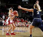 SIOUX FALLS, SD - MARCH 8: Madison McKeever #23 of the South Dakota Coyotes spots up for a jumper against the Oral Roberts Golden Eagles at the 2020 Summit League Basketball Championship in Sioux Falls, SD. (Photo by Dave EggenInertia)