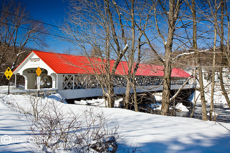 The Ashuelot Covered Bridge in Winchester, Monadnock Region, NH, USA