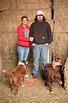 Families gather after Christmas at the Cuneo Ranch in California's Mother Lode. Annie and J.W. with their dogs
