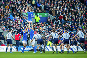 2nd February 2019, Murrayfield Stadium, Edinburgh, Scotland; Guinness Six Nations Rugby Championship, Scotland versus Italy; Braam Steyn of Italy wins a line out