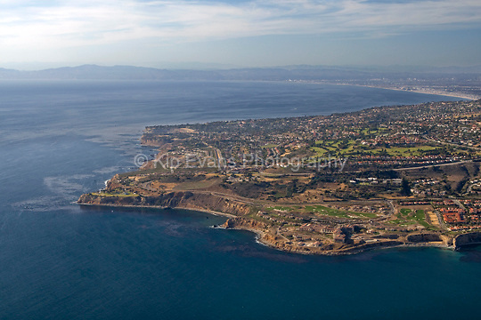 Aerial view of Palos Verdes looking northwest toward Santa Monica.