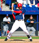 6 March 2010: Washington Nationals' outfielder Justin Maxwell in action during a Spring Training game against the New York Mets at Space Coast Stadium in Viera, Florida. The Mets defeated the Nationals 14-6 in Grapefruit League action. Mandatory Credit: Ed Wolfstein Photo