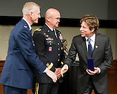 Colonel David Almand, Major General Karl Horst, Christo Morse - The 2012 Hobey Baker Award ceremony was held at MacDill Air Force Base on Friday, April 6, 2012, in Tampa, Florida.