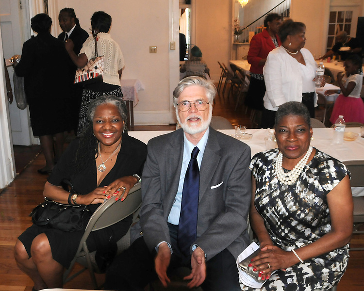 Rubye Braye, Jim Peppler, and Barbara Howard, at the Repast and Fellowship hour that followed the funeral Service for, Norman F. Lumpkin Jr, held at the Metropolitan United Methodist Church, in Montgomery, AL, on Tuesday, May 13, 2014. Photo by Jim Peppler. Copyright Jim Peppler 2014, All rights Reserved.