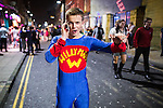 © Joel Goodman - 07973 332324 . 27/12/2015 . Wigan , UK . Willy Man . Revellers in Wigan enjoy Boxing Day drinks and clubbing in Wigan Wallgate . In recent years a tradition has been established in which put on fancy dress for a Boxing Day night out . Photo credit : Joel Goodman