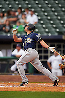 San Antonio Missions outfielder Hunter Renfroe (10) at bat during a game against the NW Arkansas Naturals on May 31, 2015 at Arvest Ballpark in Springdale, Arkansas.  NW Arkansas defeated San Antonio 3-1.  (Mike Janes/Four Seam Images)