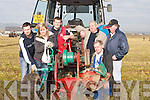 READY: Jim Healy (Churchill), Michael (Jnr) and Michael O'Halloran Snr, Ballyheigue, getting their plough ready for the Ardfert Ploughing Championships on Sunday..