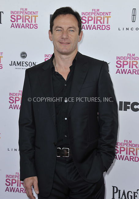 WWW.ACEPIXS.COM......February 24 2013, LA....Jason Isaacs arriving at the 2013 Film Independent Spirit Awards at Santa Monica Beach on February 23, 2013 in Santa Monica, California. ........By Line: Peter West/ACE Pictures......ACE Pictures, Inc...tel: 646 769 0430..Email: info@acepixs.com..www.acepixs.com