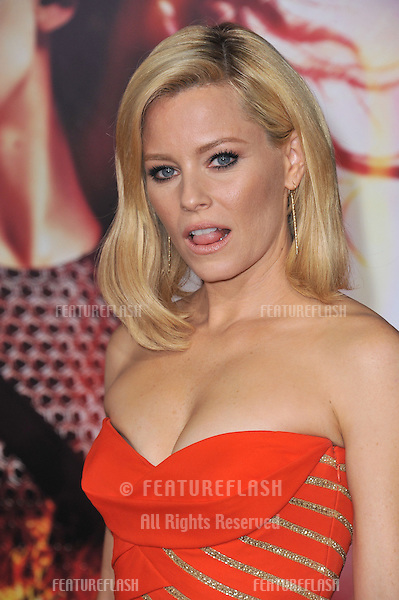 Elizabeth Banks at the US premiere of her movie &quot;The Hunger Games: Catching Fire&quot; at the Nokia Theatre LA Live.<br /> November 18, 2013  Los Angeles, CA<br /> Picture: Paul Smith / Featureflash