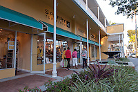 Upscale shopping and dining along 5th Avenue South, Naples, Florida, USA. Photo by Debi Pittman Wilkey