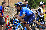 Esteban Chaves (COL) Mitchelton-Scott and Nairo Quintana (COL) Movistar on the final Cat 1 climb up to Observatorio Astrofisico de Javalambre during Stage 5 of La Vuelta 2019 running 170.7km from L'Eliana to Observatorio Astrofisico de Javalambre, Spain. 28th August 2019.<br /> Picture: Eoin Clarke | Cyclefile<br /> <br /> All photos usage must carry mandatory copyright credit (© Cyclefile | Eoin Clarke)