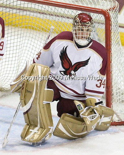 Alex Kremer (BC - 34) - The Boston College Eagles defeated the Endicott College Gulls 6-1 in a Northeast Collegiate Hockey Association (ACHA) matchup on Tuesday, November 3, 2009, at Conte Forum in Chestnut Hill, Massachusetts.