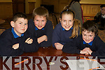 Pictured at the Tralee Credit Union Schools Quiz Brandon hotel on Sunday were Johnathan O'Rourke, Padraig Broderick, Eimear Horgan and William Brosnan.