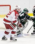 David Valek (Harvard - 22), Jody O'Neill (Dartmouth - 1) - The Harvard University Crimson defeated the Dartmouth College Big Green 4-1 (EN) on Monday, January 18, 2010, at Bright Hockey Center in Cambridge, Massachusetts.