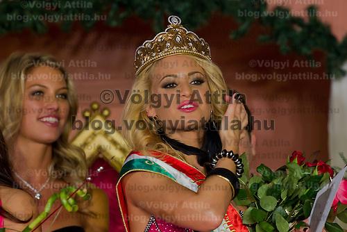 Marianna Bertok winner of the Miss Hungary beauty contest held in Budapest, Hungary on December 29, 2011. ATTILA VOLGYI
