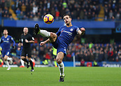 2nd February 2019, Stamford Bridge, London, England; EPL Premier League football, Chelsea versus Huddersfield Town; Cesar Azpilicueta of Chelsea with an overhead kick