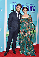 HOLLYWOOD, CA - JULY 31: Seth Rogen (L) and Writer/Director/Producer Lauren Miller Rogen arrive at the Premiere Of Netflix's 'Like Father' at ArcLight Hollywood on July 31, 2018 in Hollywood, California.<br /> CAP/ROT/TM<br /> &copy;TM/ROT/Capital Pictures