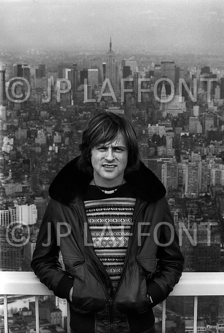 Manhattan, NYC. Dutch singer Dave, one of France's biggest pop stars of the '70, during one of his visits to NYC.