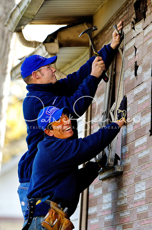 Lowe's Rebuilding Together project on three houses in Chicago, Illinois.