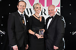 © Joel Goodman - 07973 332324 . 02/03/2017 . Manchester , UK . Barrister of the Year , Kate Blackwell QC of Lincoln House Chambers . The Manchester Legal Awards at the Midland Hotel . Photo credit : Joel Goodman
