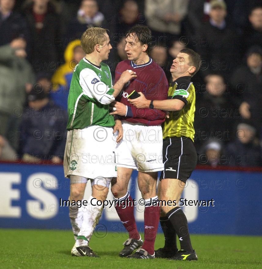 02/01/2003                   Copyright Pic : James Stewart.File Name : stewart-hearts v hibs 12.REF SEPERATES TOM MCMANUS AND STEPHANE MAHE....James Stewart Photo Agency, 19 Carronlea Drive, Falkirk. FK2 8DN      Vat Reg No. 607 6932 25.Office     : +44 (0)1324 570906     .Mobile  : +44 (0)7721 416997.Fax         :  +44 (0)1324 570906.E-mail  :  jim@jspa.co.uk.If you require further information then contact Jim Stewart on any of the numbers above.........