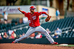 1 March 2019: Washington Nationals pitcher Scott Copeland on the mound during Spring Training play against the Miami Marlins at Roger Dean Stadium in Jupiter, Florida. The Nationals defeated the Marlins 5-4 in Grapefruit League play. Mandatory Credit: Ed Wolfstein Photo *** RAW (NEF) Image File Available ***