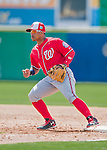 29 February 2016: Washington Nationals infielder Wilmer Difo in action during an inter-squad pre-season Spring Training game at Space Coast Stadium in Viera, Florida. Mandatory Credit: Ed Wolfstein Photo *** RAW (NEF) Image File Available ***