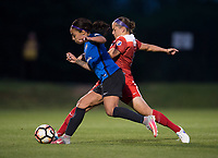 Boyds, MD - Saturday May 20, 2017: Whitney Church and Sydney Leroux during a regular season National Women's Soccer League (NWSL) match between the Washington Spirit and FC Kansas City at Maureen Hendricks Field, Maryland SoccerPlex.