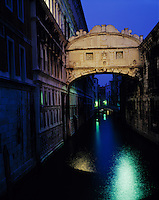 The Bridge of Sighs, Venice, Italy    Bridge led prisoners to dungeons    Doge's Palace