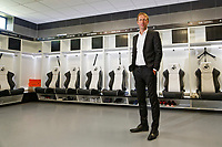 Pictured: Graham Potter stands in the changing room. Monday 11 June 2018<br /> Re: Graham Potter is announced as the new manager for Swansea City AFC at the Fairwood Training Ground, south Wales, UK.