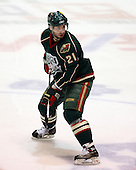 February 24th 2008:  Marco Rosa (21) of the Houston Aeros skates up ice during a game vs. the Rochester Amerks at Blue Cross Arena at the War Memorial in Rochester, NY.  The Aeros defeated the Amerks 4-0.   Photo copyright Mike Janes Photography 2008