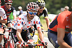 Polka Dot Jersey Julian Alaphilippe (FRA) Quick-Step Floors part of the 31 man breakaway group in action during Stage 14 of the 2018 Tour de France running 188km from Saint-Paul-Trois-Chateaux to Mende, France. 21st July 2018. <br /> Picture: ASO/Pauline Ballet | Cyclefile<br /> All photos usage must carry mandatory copyright credit (&copy; Cyclefile | ASO/Pauline Ballet)