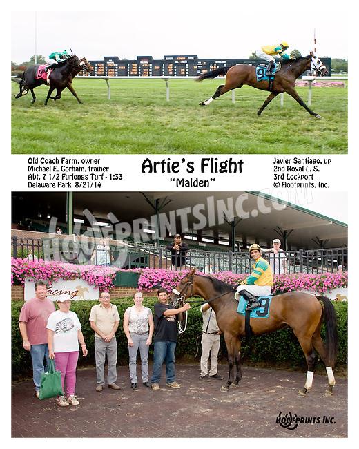 Artie's Flight winning at Delaware Park on 8/21/14