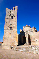 Torre de Re Frederico 2nd, Érice Duomo [Erice cathedral], Sicily stock photos.
