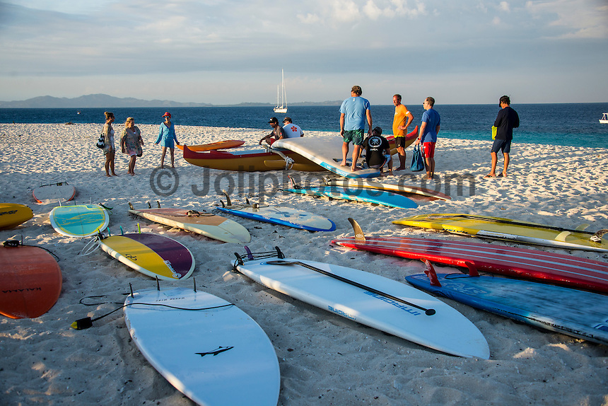 Kamp Kalama, Namotu Island Resort , Fiji. (Wednesday November 4, 2015) There were very light SE Trades early before they shifted to the South West and increased in strength, blowing out the breaks for the rest of the day. The swell was in the 3' range with surf sessions at Namotu Lefts and Swimming Pools.  Lefts was the pick of the spots early with many of the Kampers out in the line up. The Fisherman caught a good catch of Mahi Mahi this morning. Photo: joliphotos.com