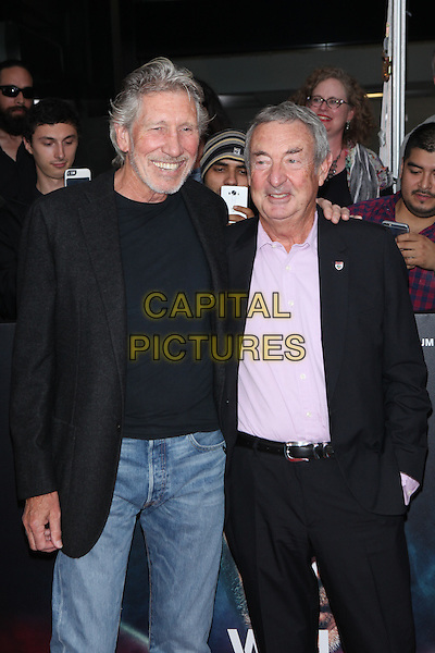 NEW YORK, NY - SEPTEMBER 28: Roger Waters and Nick Mason at the premiere of Roger Waters The Wall at The Ziegfeld Theater in New York City on September 28, 2015. <br /> CAP/MPI/COR<br /> &copy;COR/MPI/Capital Pictures