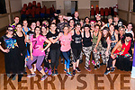 umba dancing : Young people from the Listowel area who took part ina Zumba dancing night at Scoil Realta na Madna, Listowel on Saturday nigh last in aid of Down Syndrome Ireland.