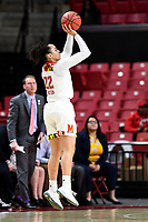 College Park, MD - March 23, 2019: Maryland Terrapins guard Blair Watson (22) shoots a three pointer during first round action of game between Radford and Maryland at Xfinity Center in College Park, MD. Maryland defeated Radford 73-51. (Photo by Phil Peters/Media Images International)