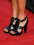 """Actress Jamie Chung 's shoes at the The World Premiere of """"The X-Files: I Want To Believe"""" at Mann's Grauman Chinese Theatre on July 23, 2008 in Hollywood, California."""