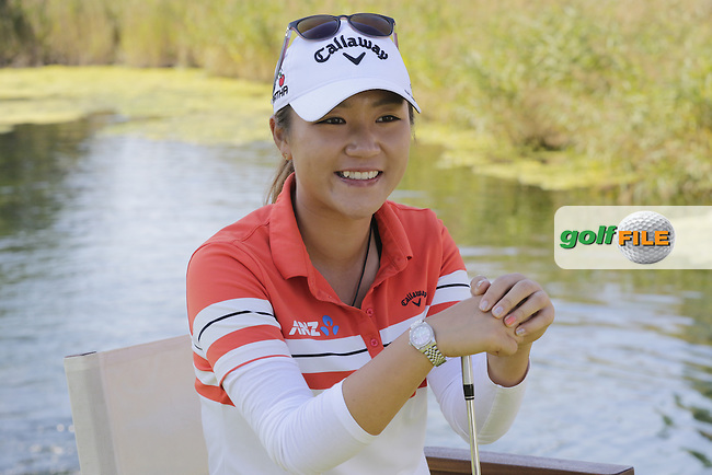 Lydia Ko (NZL) relaxes during Wednesday's Pro-Am of the LPGA 2015 Evian Championship, Evian les Bains, France. 09/09/2015.<br /> Picture Eoin Clarke | Golffile