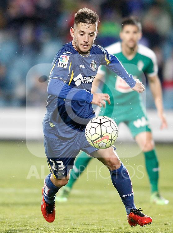 Getafe's Alvaro Medran during La Liga match. March 18,2016. (ALTERPHOTOS/Acero)