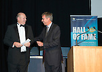 St Johnstone Hall of Fame Dinner, Perth Concert Hall...05.10.13<br /> Heads and Tailswinner with Gordon Bannerman<br /> Picture by Graeme Hart.<br /> Copyright Perthshire Picture Agency<br /> Tel: 01738 623350  Mobile: 07990 594431