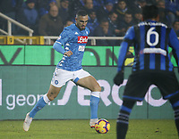 Nikola Maksimovic of Napoli  during the  italian serie a soccer match,Atalanta - SSC Napoli at  the Atleti azure d'italia   stadium in Bergamo Italy , December 03, 2018
