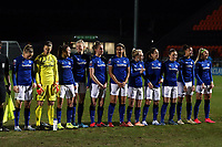 Everton women line up before Tottenham Hotspur Women vs Everton Women, Barclays FA Women's Super League Football at the Hive Stadium on 12th February 2020