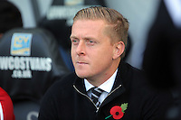 Swansea manager Garry Monk during the Barclays Premier League match between Swansea City and Arsenal at the Liberty Stadium, Swansea on October 31st 2015