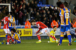 Jordan Cook of Walsall celebrates scoring his side's third goal of the game - Football - Sky Bet Division 1 - Shrewsbury Town vs Walsall - Greenhous Meadow Shrewsbury - December 1st  2015 - Season 2015/2016 - Photo Malcolm Couzens/Sportimage