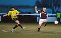 Stranraer's Andrew Stirling scores their goal.